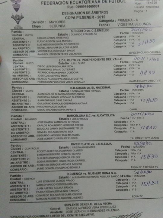 Horarios FECHA FINAL