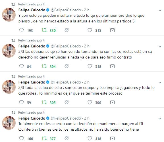Felipe Caicedo renuncia a la TRI apoyo a Quinteros.png