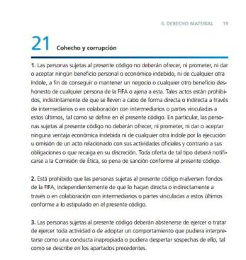 Código ética FIFA 21